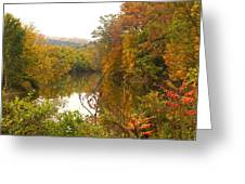 Autumn In The Butternut Valley-five Greeting Card