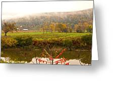 Autumn In The Butternut Valley-six Greeting Card