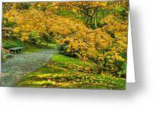 Autumn In The Garden Greeting Card