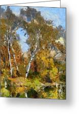 Autumn In The Marshes Greeting Card