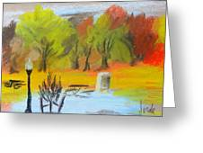 Autumn In The Park Greeting Card by Steve Jorde