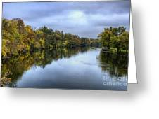 Autumn In The River Greeting Card