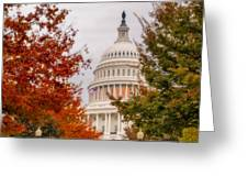 Autumn In The Us Capitol Greeting Card