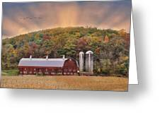 Autumn In Wellsboro Greeting Card