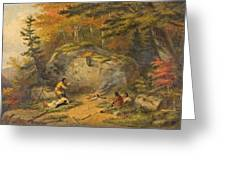 Autumn In West Canada Chippeway Indians Greeting Card
