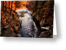 Autumn In West Paris Greeting Card by Bob Orsillo