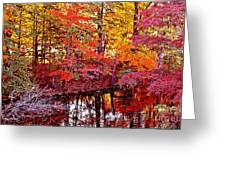 Autumn Is Too Hot Greeting Card