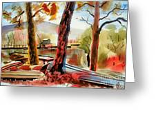 Autumn Jon Boats I Greeting Card