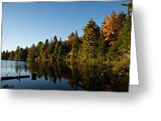 Autumn Lake In The Forest - Reflection Tranquility Greeting Card