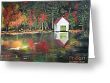 Autumn - Lake - Reflecton Greeting Card