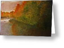 Autumn Lake View  Greeting Card