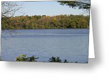 Autumn Lakeside Greeting Card