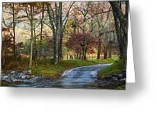 Autumn Lane  Greeting Card