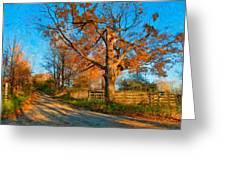 Autumn Lane Mpasto Greeting Card