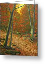 Autumn Leaf Litter Greeting Card