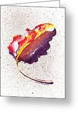 Autumn Leaf On Fire Greeting Card
