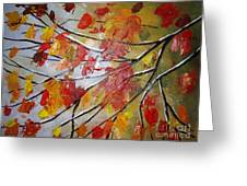 Autumn Leaves Greeting Card by Elena  Constantinescu