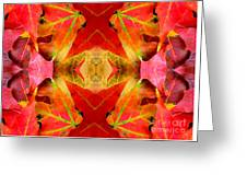 Autumn Leaves Mirrored Greeting Card