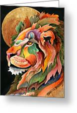 Autumn Lion Greeting Card
