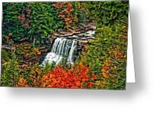 Autumn Magic Paint Greeting Card