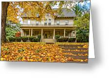 Autumn Mansion 2 Greeting Card