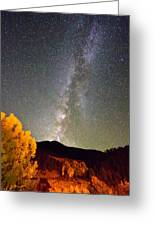 Autumn Milky Way Night Sky  Greeting Card by James BO  Insogna