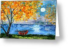 Autumn Moon Greeting Card