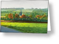 Autumn Morning At St Ulphace Greeting Card
