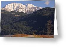 Autumn Snowcapped Mountain - Golden Ears - British Columbia Greeting Card