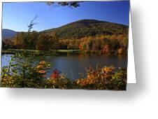 Autumn Mountain View Greeting Card