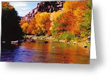 Autumn Oak Creek  Greeting Card