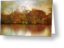 Autumn On A Pond Greeting Card