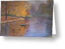 Autumn On Avon Nz. Greeting Card