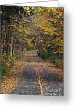 Autumn On Bike Trail  Greeting Card