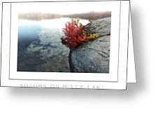 Autumn On Misty Lake Poster Greeting Card
