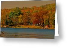 Autumn On Mt Noris Lake Greeting Card by Victoria Sheldon