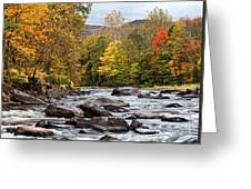 Autumn On The Esopus Greeting Card