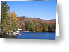 Autumn On The Fulton Chain Of Lakes In The Adirondacks V Greeting Card