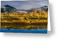 Autumn On The Klamath 1 Greeting Card