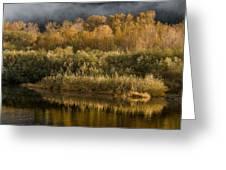 Autumn On The Klamath 3 Greeting Card