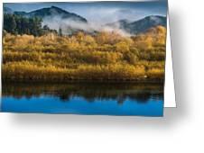 Autumn On The Klamath 5 Greeting Card