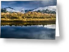 Autumn On The Klamath 7 Greeting Card