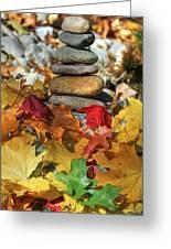Autumn On The Rocks 2 Greeting Card