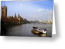 Autumn On The Thames    Greeting Card by Stephen Norris