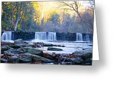 Autumn On The Wissahickon Waterfall Greeting Card