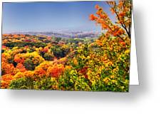 Autumn Over The Rolling Hills Greeting Card