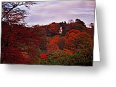 Autumn Pagoda Greeting Card