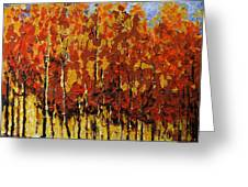 Autumn Palette Greeting Card by Vickie Warner
