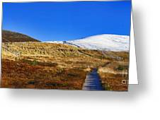 Autumn Panorama In Cairngorms National Park With Cairn Gorm Scotland Greeting Card