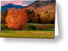 Autumn Pasture Greeting Card
